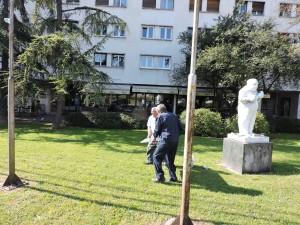 Radovi na spomeniku Janiki Balažu